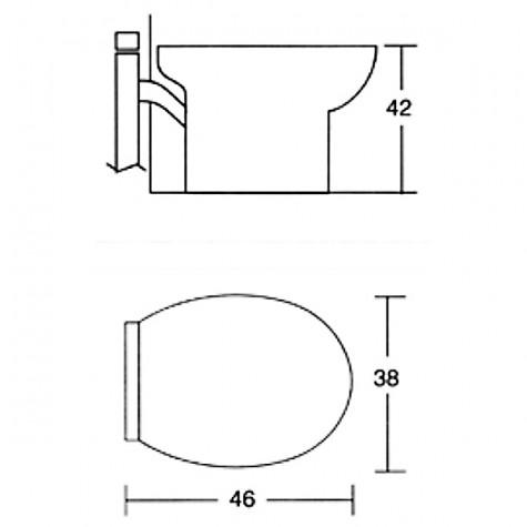 pulsosanit Wc céramique sans abattant avec broyeur incorporé pulsosanit