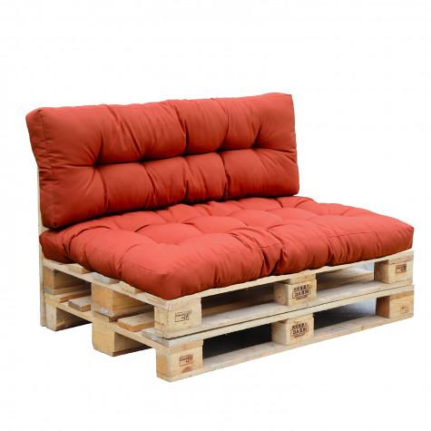 red deco Set 2 coussins d'extérieur terracotta red deco