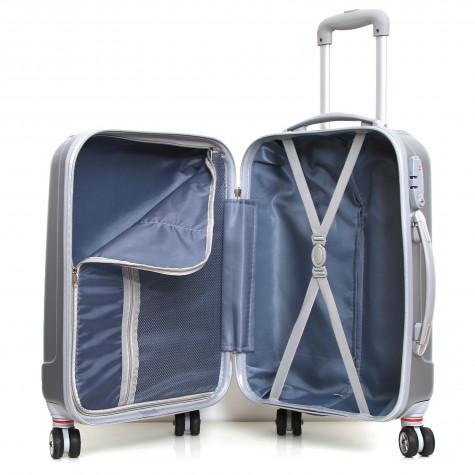 robby Ensemble de 3 valises à roulettes gris robby