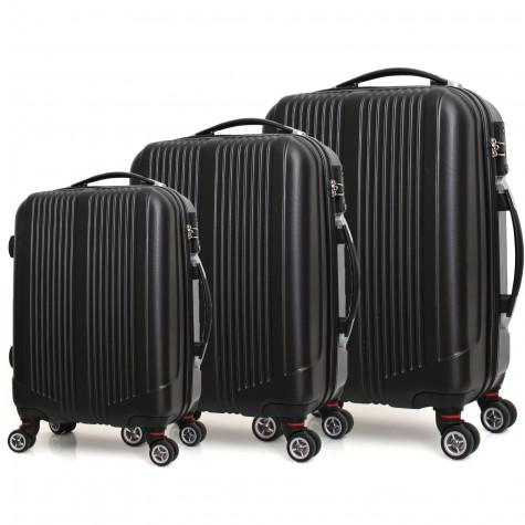 robby Ensemble de 3 valises à roulettes noir robby
