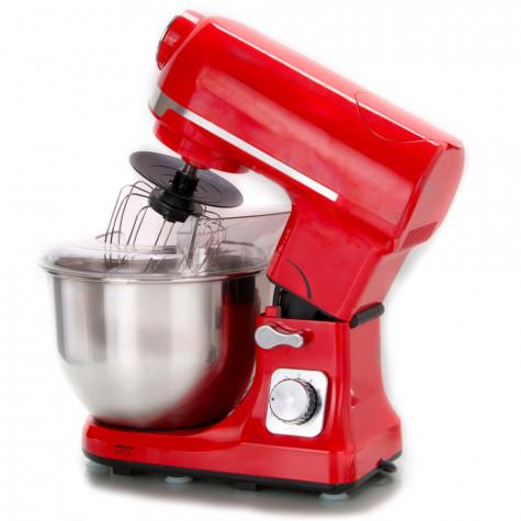 robby Robot multifonctions 5l 1000w rouge avec hachoir et blender 1,5l en verre robby