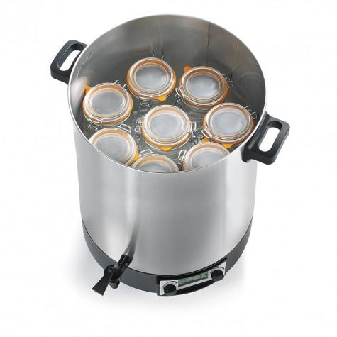 robby Stérilisateur électrique lcd avec robinet et minuteur 45l 2500w inox robby