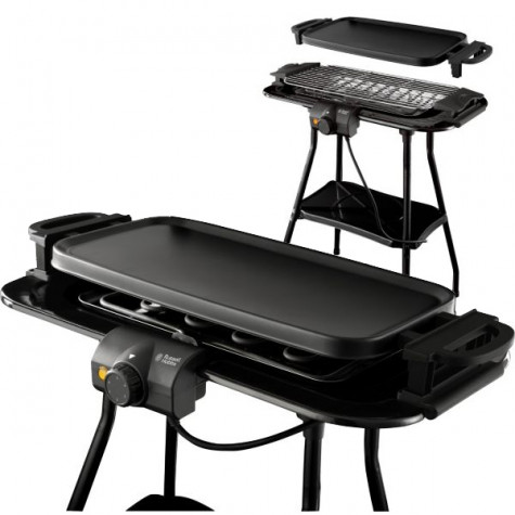 russell hobbs Barbecue électrique 3en1 grill/plancha sur pied 2000w 740cm2 russell hobbs