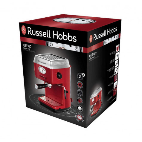 russell hobbs Machine à expresso 15 bars rouge russell hobbs