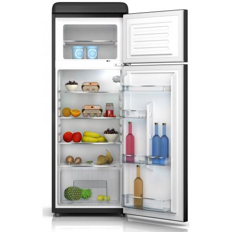 schneider Réfrigérateur combiné 55cm 208l a+ statique noir schneider