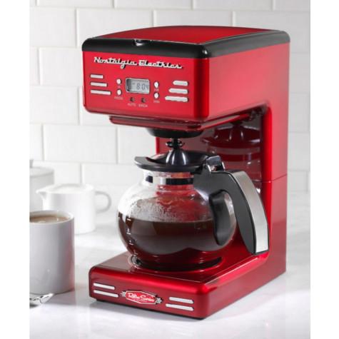 simeo Cafetière filtre programmable 12 tasses 900w rouge simeo