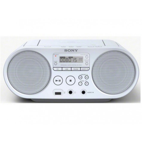 sony Radio cd usb portable blanc sony