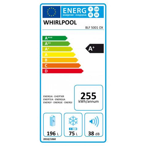 whirlpool Réfrigérateur combiné 60cm 271l a+ statique inox whirlpool