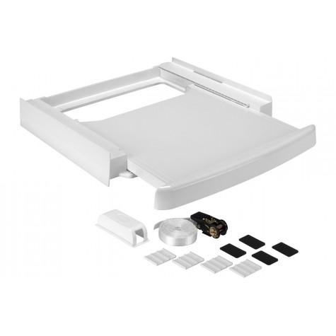 wpro Kit de superposition 60cm blanc avec tablette wpro