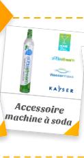 Accessoires pour Machine à gazéifier l'eau du robinet