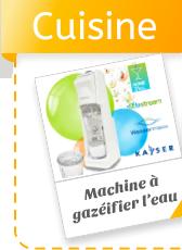 Machine à gazéifier l'eau du robinet