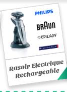 Rasoir Electrique Rechargeable